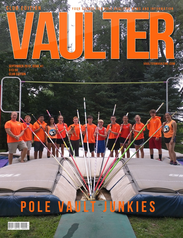 "September 2015 Pole Vault Junkies Issue of VAULTER Magazine USPS First Class ""ONLY"""