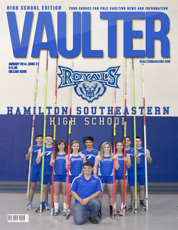 "January 2014 Hamilton Southeastern High School Issue of VAULTER Magazine USPS First Class ""ONLY"""
