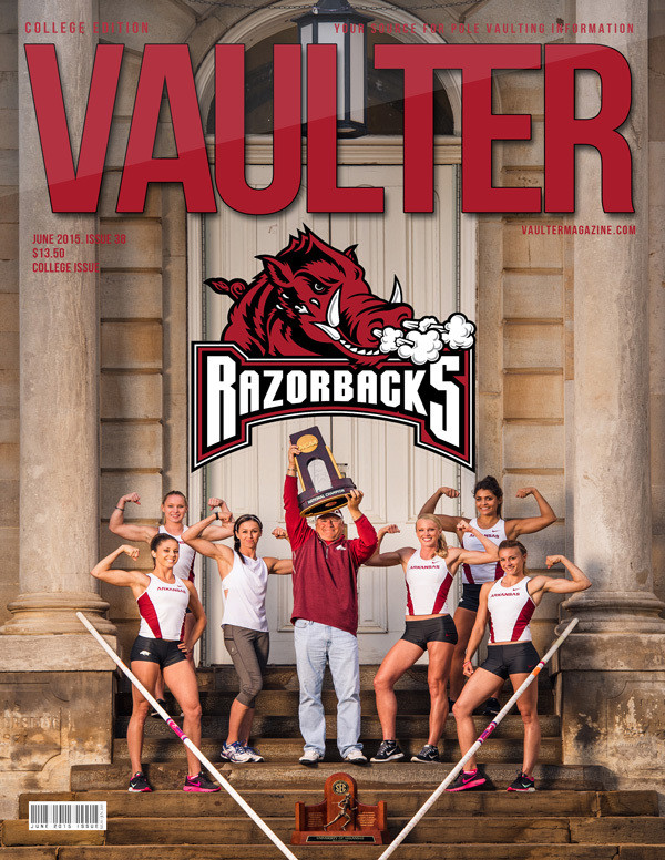 """June 2015 University of Arkansas Issue of VAULTER Magazine USPS First Class """"ONLY"""""""