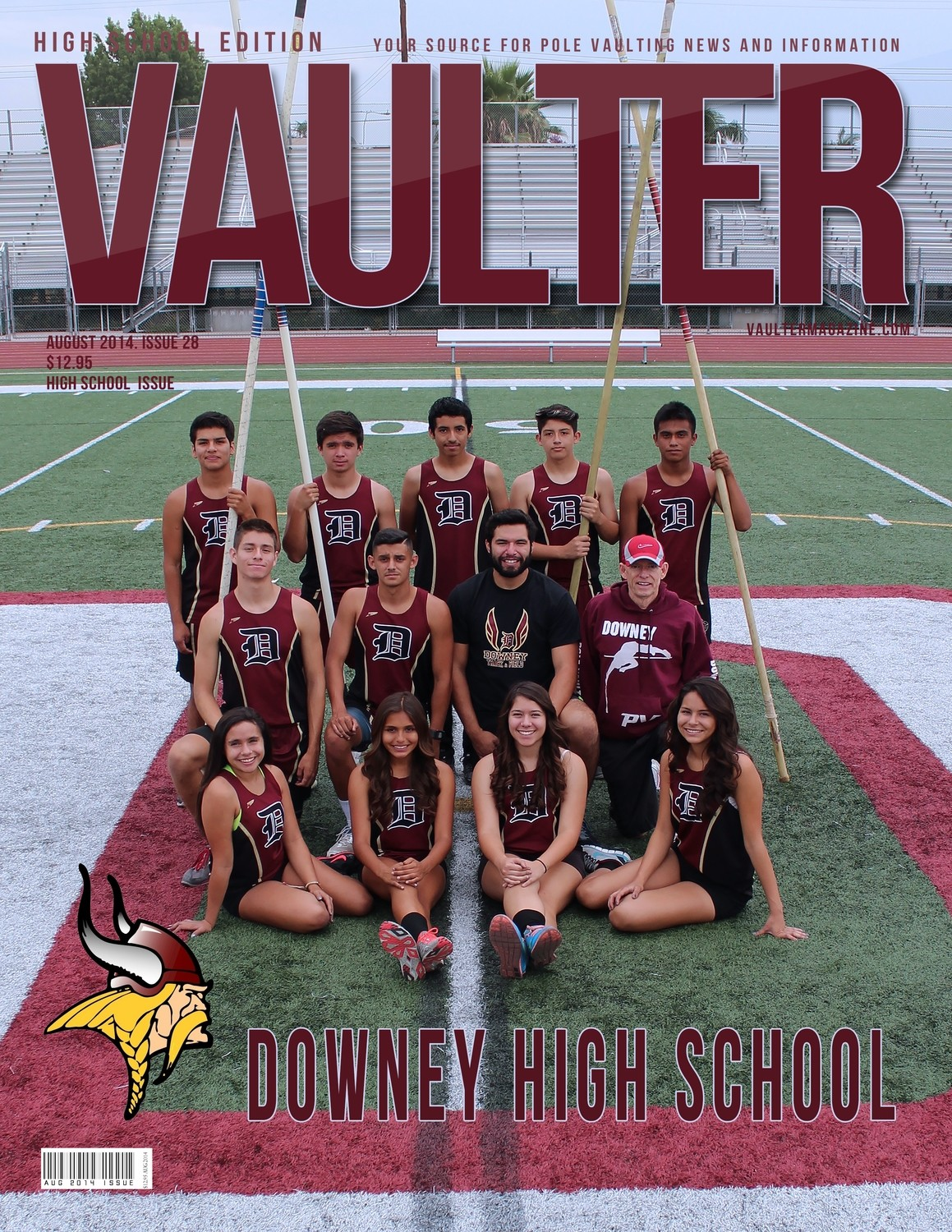 "August 2014 Downey High School Edition Issue of VAULTER Magazine USPS First Class ""ONLY"""