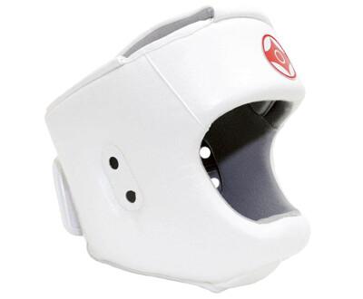 Шлем для каратэ с защитой верха головы (натуральная кожа)