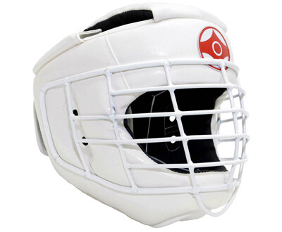 Шлем для каратэ со спецстальной маской (натуральная кожа)