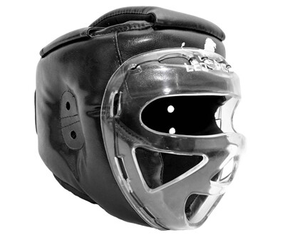 Шлем для рукопашного боя с пластмассовой маской LEO