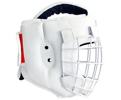 Шлем для каратэ со съемной маской Атлант-1 (кожзаменитель)