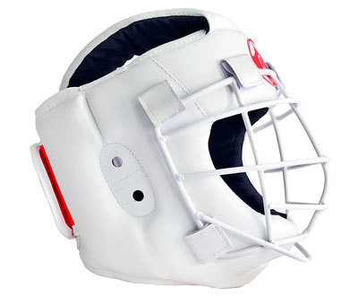 Шлем для каратэ со съемной маской Атлант-2 (кожзаменитель)
