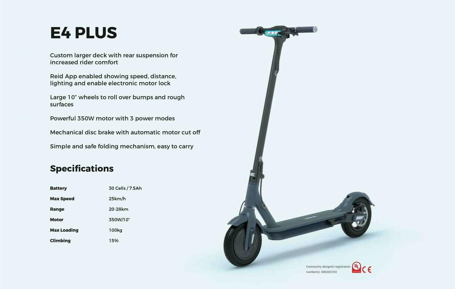 Dorwizz Electric Scooter Mk2 - The Reid