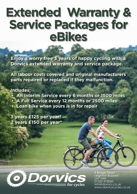 Extended  Warranty & Service Packages for eBikes - 2 years