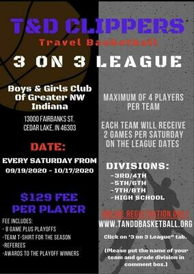 3 on 3 Payment Per Player