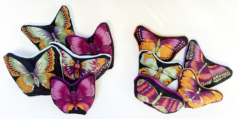 Watercolor Butterfly Catnip Toy