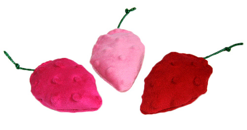 Strawberry Catnip Toys