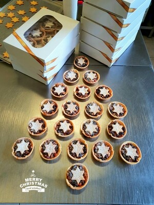 CHRISTMAS MINCE PIES - All made in house, as soon as you bite into one of these delectable delights you'll know Christmas has arrived...6 Pies Per Box.