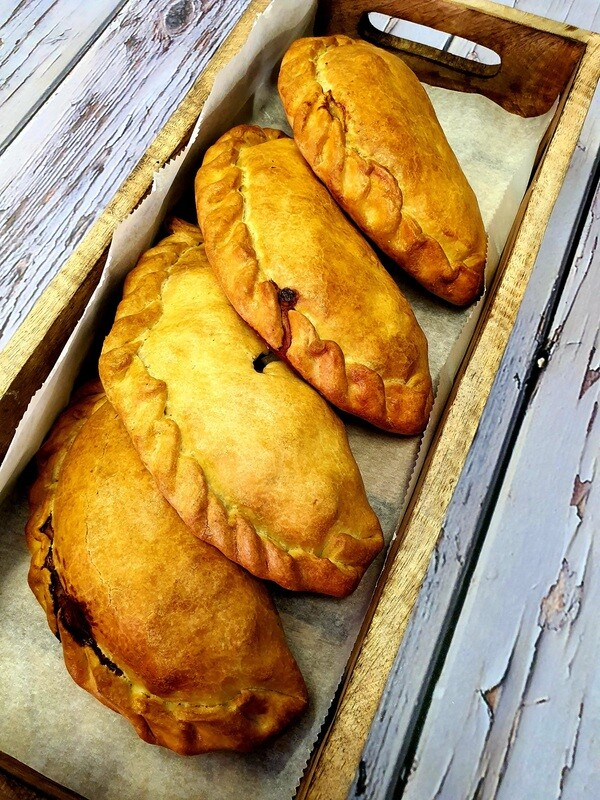CORNISH PASTY - Seasoned Root Vegetables and (CH)Braised Beef steamed inside our in-house pastry. A lightly sauced filling with earthy flavours bringing a nice contrast to our existing pie range.