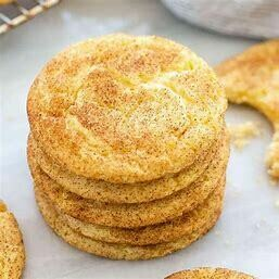 SNICKERDOODLE - 4 pieces of lovely homely tasting Cookies, lots of buttery richness, gently dusted with Cinnamon Sugar. Delightful !