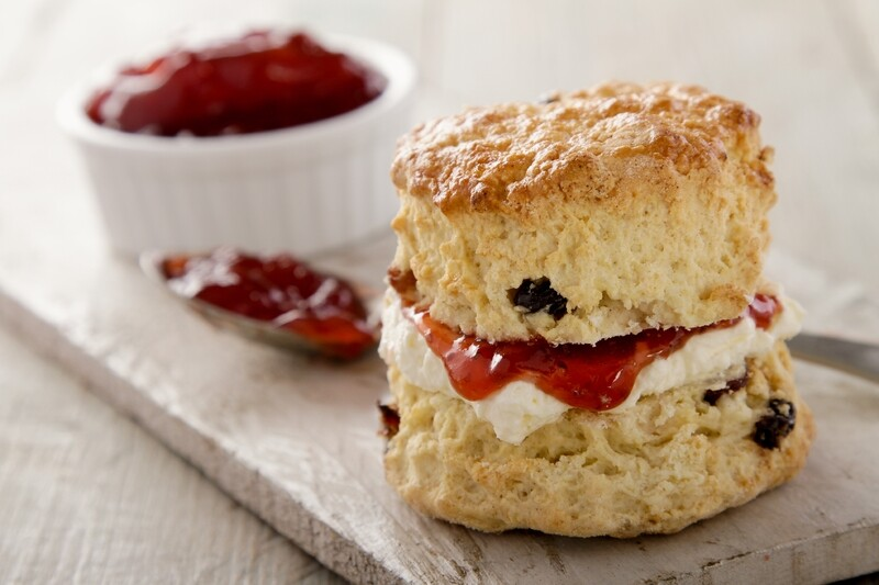 SCONES - Scones containing Sultanas, Freshly made on the premises daily. Great for afternoon tea or a decadent treat when the feeling suits. 4 Large scones to a pack.