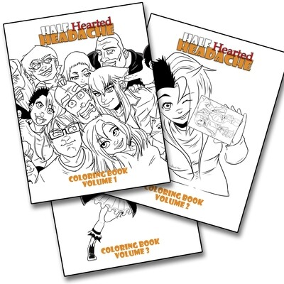Digital Download - Coloring Books (ALL 3 Volumes) + Gift