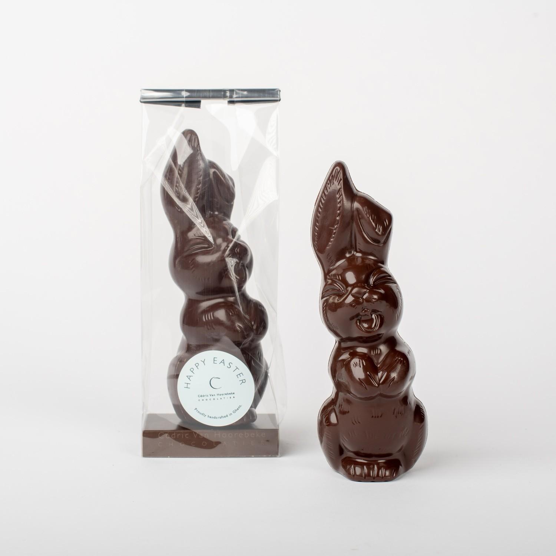 Smiling hare - classic dark chocolate 53%  H 17 cm