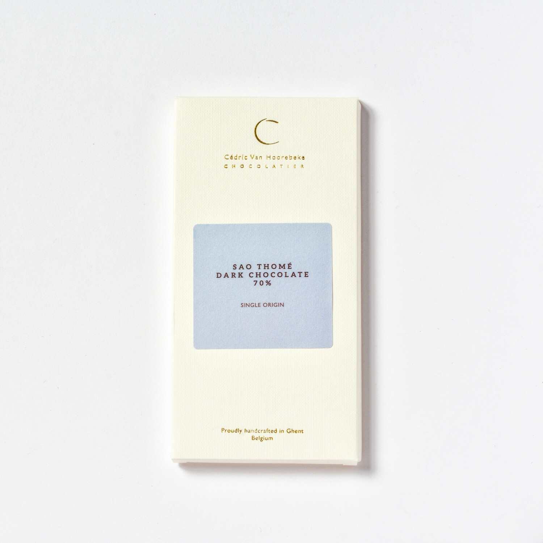 Sao Thomé 70% - Single origin dark chocolate - 100Gr.