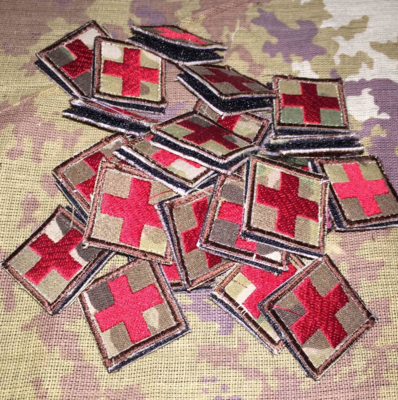 Multicam - Red Cross - 1in IFAK Patch