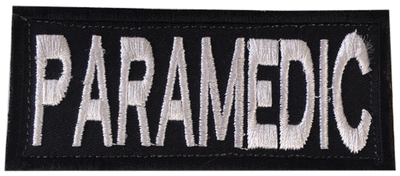 Paramedic Shoulder Patch - Black