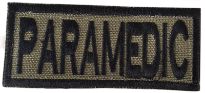 Paramedic Shoulder Patch - Ranger Green