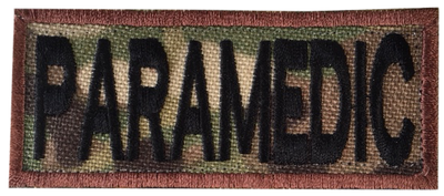 Paramedic Shoulder Patch - Multicam