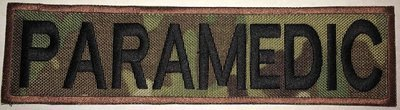 PARAMEDIC -  2x8in MULTICAM - Brown border/Black Text