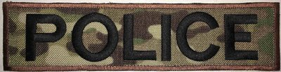 POLICE 2x8in MULTICAM - Black Text