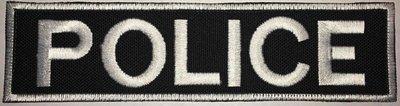 POLICE 2x8in BLACK
