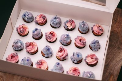 24 Mini  Cupcakes Set