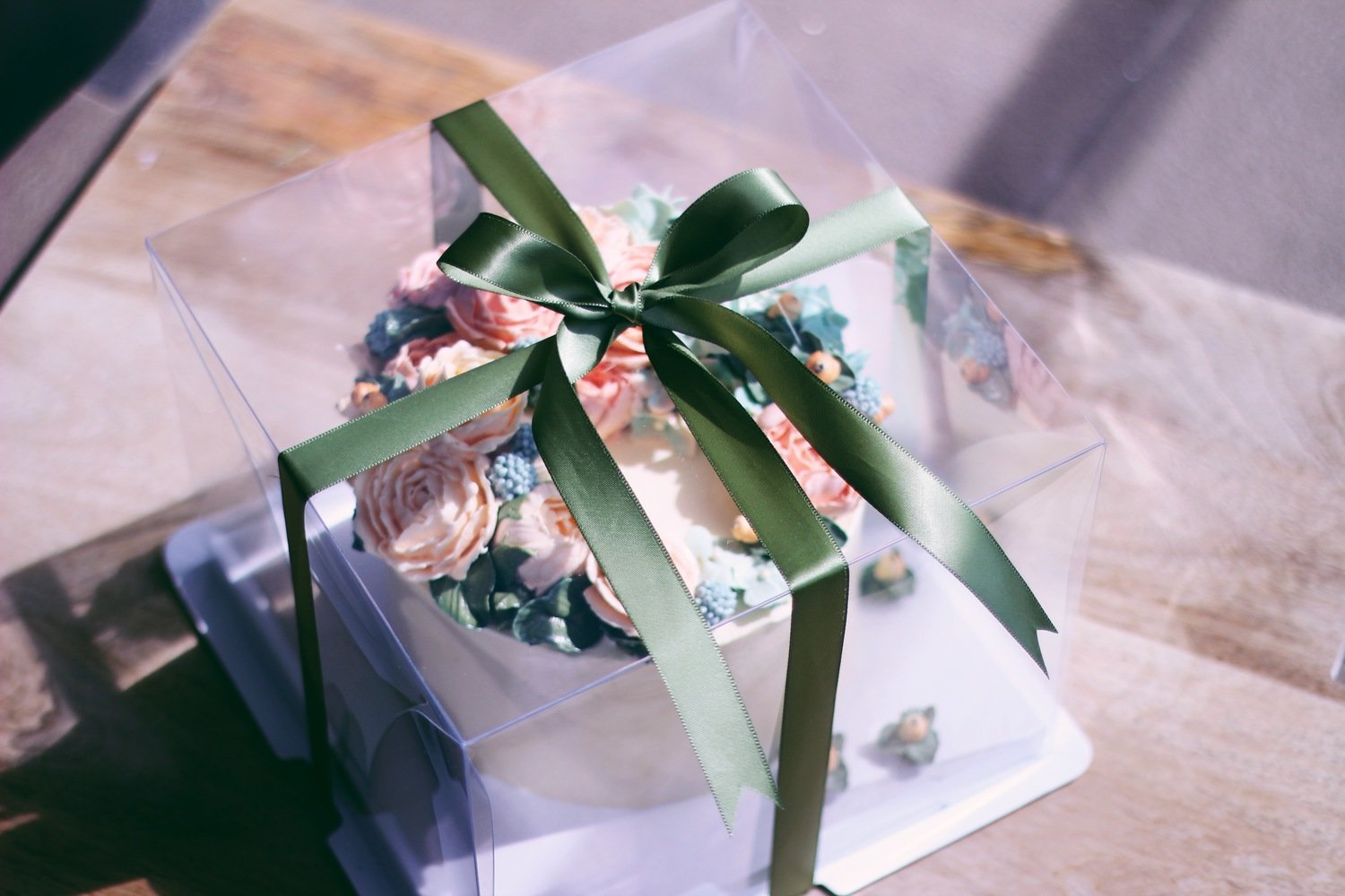 Clear Cake Box Container