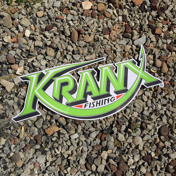 Small Kranx Fishing UV Protected Vinyl Stickers