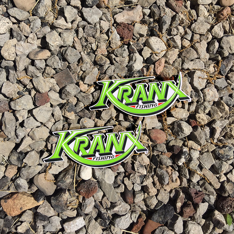 Small Kranx Fishing UV Protected Vinyl Stickers 00106