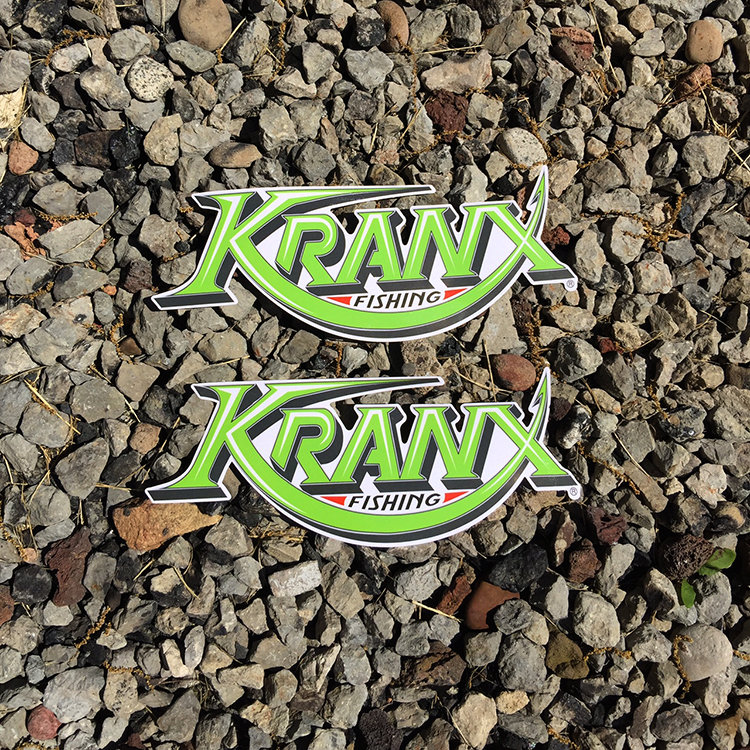 MEDIUM Kranx Fishing UV Protected Vinyl Stickers 00136