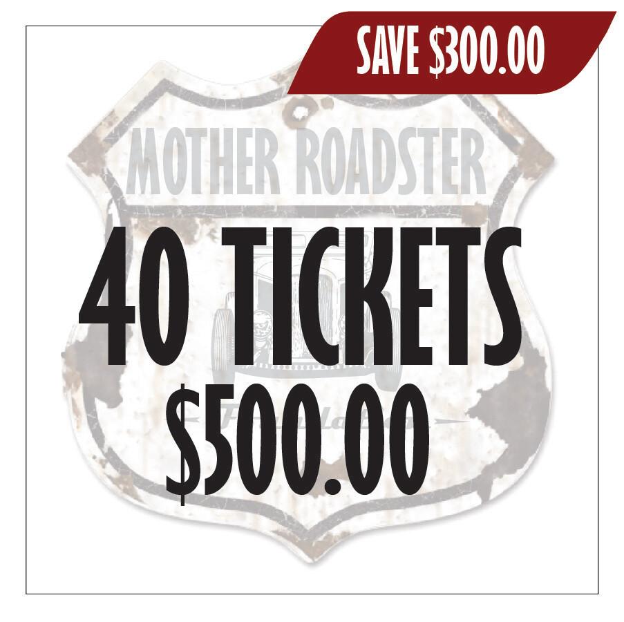 40 Raffle Tickets