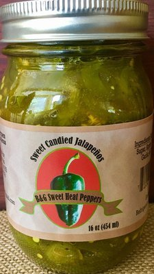 Sweet Candied Jalapeños (16 oz)
