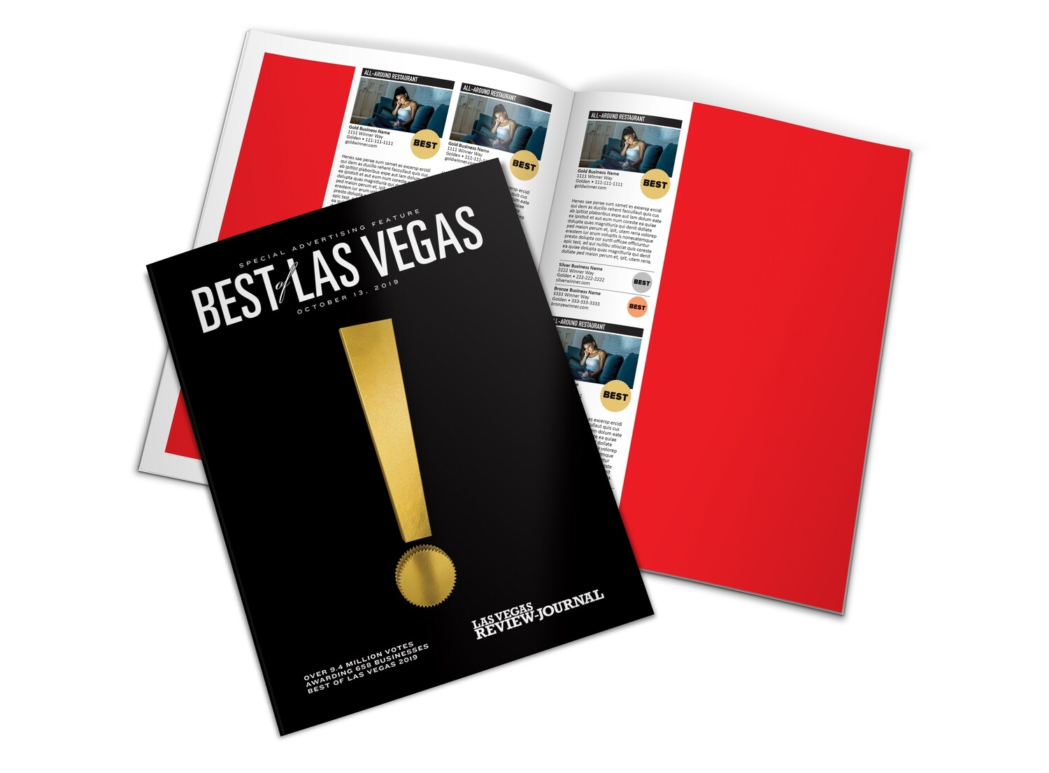 2020 Best of Las Vegas Magazine   Full Page   Early Bird Rate