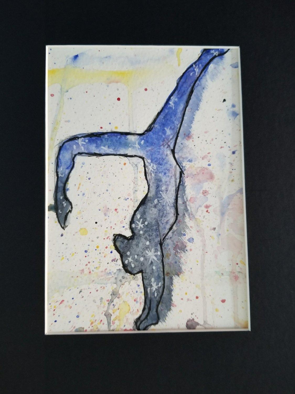 """Gymnast Silhouette 5""""x 7"""""""