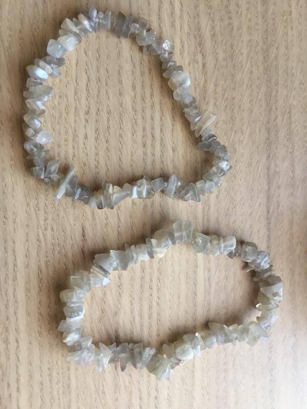 Chip Bracelet: Grey Moonstone