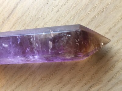 Amethyst and Smoky Quartz Wand