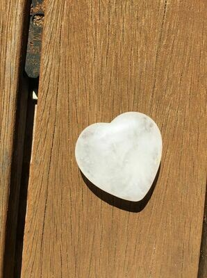 White Azeztulite heart