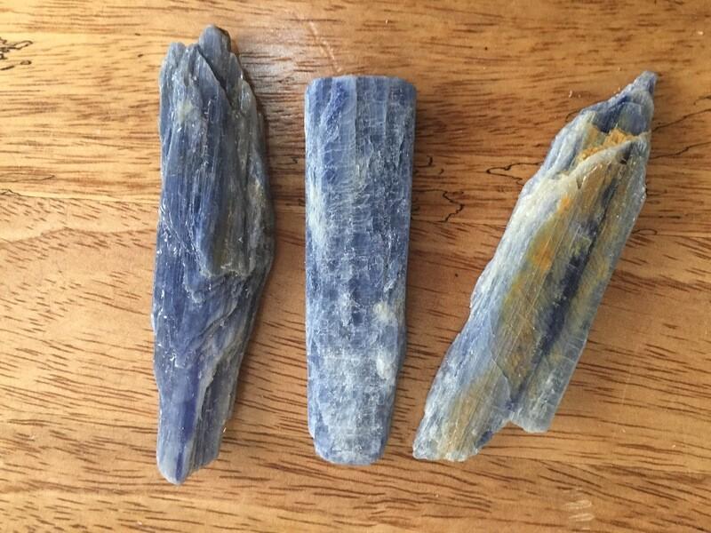 Blue Kyanite pieces