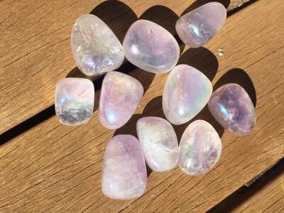 Lavender Aura Quartz tumbles