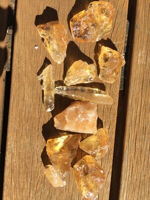 Citrine Calcite Raw
