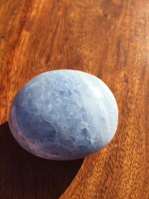 Blue Calcite Large Palmstone