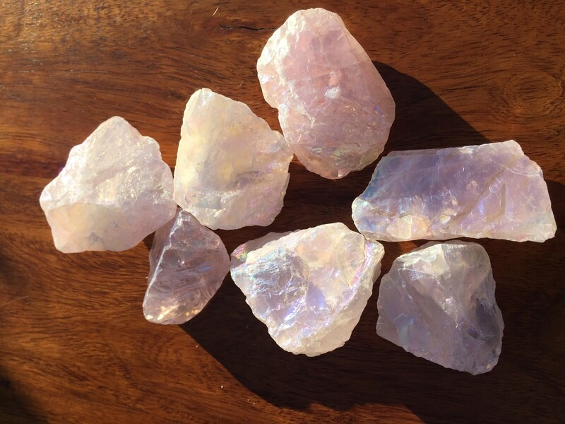 Rose Aura Quartz Raw