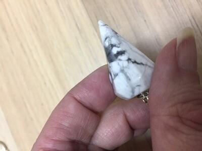 White Howlite pendulum