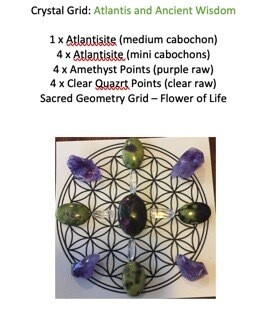 Pocket Sized Mini Crystal Grid: Atlantis and Ancient Wisdom