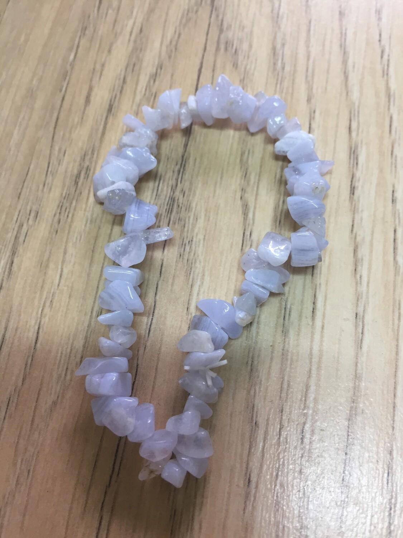Chip Bracelet: Blue Lace Agate