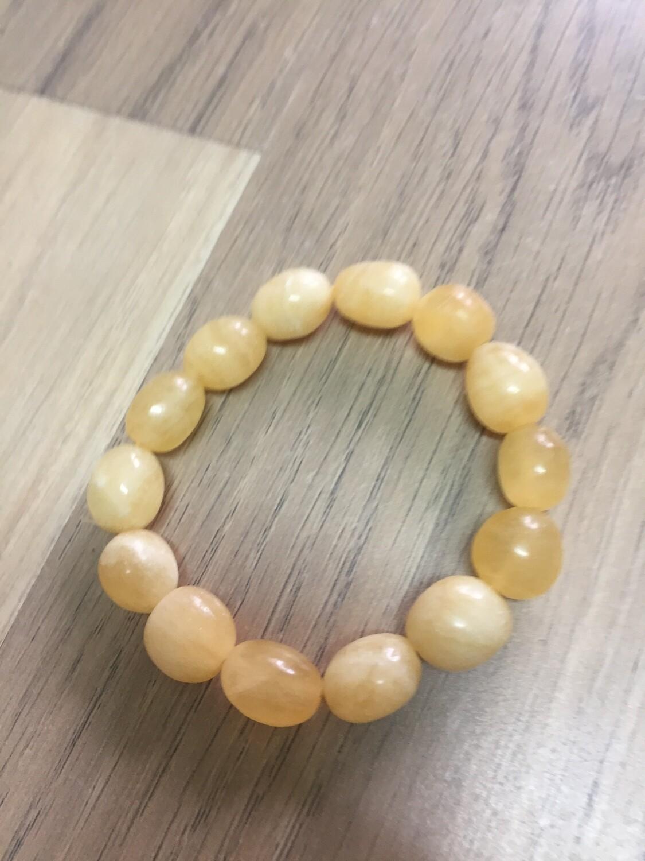 Yellow Calcite bead bracelet