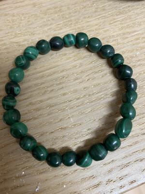 Bead Bracelet: Malachite